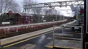 Dalreoch: The man was arrested. Dalreoch train station Dumbarton