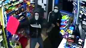 Two teenagers armed with long knives tried to rob a shop on Kettering Road, Northampton.
