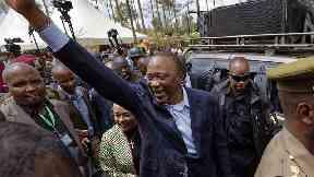 Uhuru Kenyatta has been declared the presidential winner.