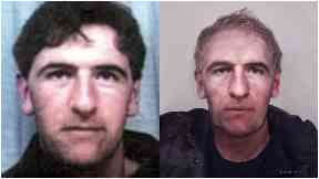 Peter McGuire, who vanished from High Valleyfield in Fife in 1993, and what he may look like in 2017.