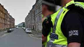 Middleton Street: He was taken to hospital. Glasgow