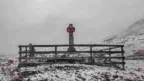 The Straloch War memorial by Paul Macgregor for Scotland by the roadside