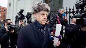 Bob Geldof arrives at Dublin City Council offices to return his freedom of the city.