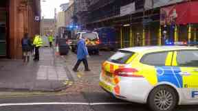 Hill Place: Road has been cordoned off. Edinburgh Inverleith Row
