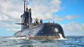 The missing ARA San Juan submarine.