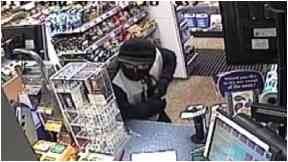 Filling station robbery CCTV