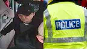 Man police wish to speak to over woman racially abused on a no. 75 bus in Glasgow.