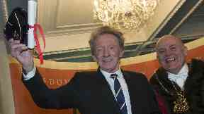Denis Law receiving the Freedom of Aberdeen. November 25, 2017.