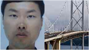 Missing Chinese national Xingshaui Hu, whose belongings were found on the Forth Road Bridge.
