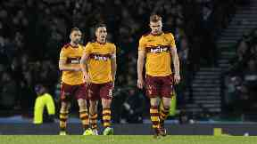 Motherwell players dejected, 2017