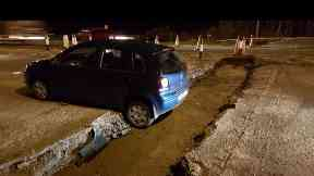Blackdog: Police were called to the crash. AWPR Aberdeenshire