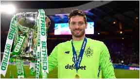 Craig Gordon with BetFred league cup.