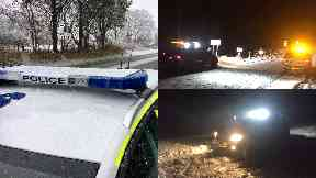 Snow: Major delays caused. Aberdeenshire