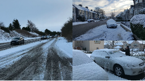 Snowy conditions across Scotland on 9/12/17