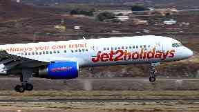 Jet2 flight at Tenerife Airport