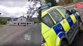 Strathcarron: Road shut for more than six hours. Strathcarron Hotel Wester Ross Highlands