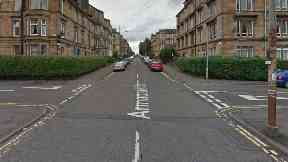 Armadale Street at Junction with Roselea Drive, Dennistoun, Glasgow.