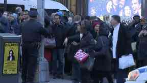 Several subway lines have been evacuated in midtown Manhattan.