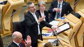 Finance Secretary Derek Mackay announces his draft Budget in Scotland's Parliament.