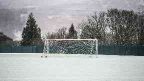 Lennoxtown, frozen pitch