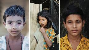 Rohingya muslim refugee children