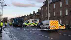 Dunkeld Road: Route closed by police. Perth