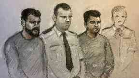 Salah (left) and Andy Star (second right) were jointly charged with one count of engaging in the preparation of an act of terrorism
