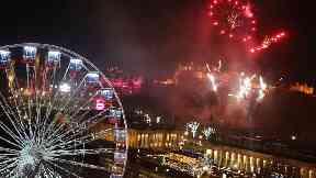 Hogmanay celebrations in Edinburgh.