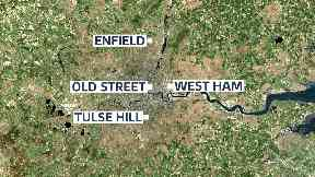 The four murders happened in north, east and south London.