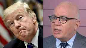 Michael Wolff (r) said he had access to the President Donald Trump.