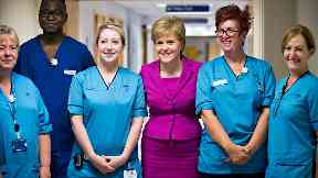Nicola Sturgeon and nurses/NHS staff/hospital staff