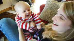 Jennifer Gill and her son Oliver