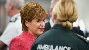 Nicola Sturgeon NHS ambulance