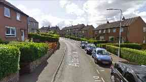 Aberdour Crescent: Woman left lying on road. Dunfermline