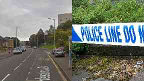 Charleston Drive: Police cordoned off street. Dundee
