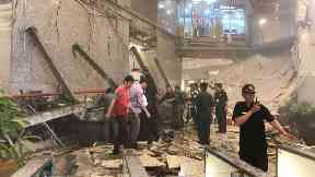 More than 50 people were injured when the floor collapsed.
