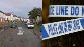 Mayfield Road: Officers cordoned off street. Hamilton