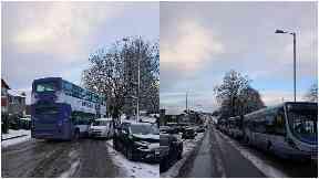 Bus crash Croftfoot Road