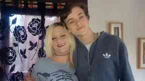 Jack Scorgie with mother Leanne Kennedy-Nicolson