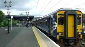 Dumbarton Central train station.