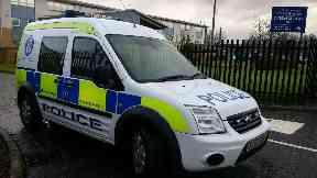 Police: Cordoned off school. All Saints Roman Catholic Secondary School Glasgow