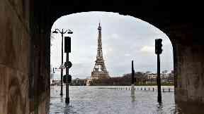 The River Seine has burst its banks