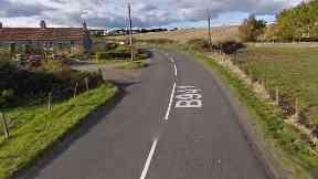 Crash: Two people seriously injured. B941 Fife