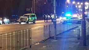 London Road: Officers closed road.