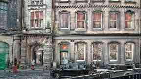 Plan for Virgin Hotel in Inida Buildings, Victoria Street, Edinburgh.