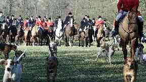 Kelso Hunt in the Scottish Borders in 2002, fox hunting