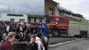 Ayrshire College: Roads closed by police.