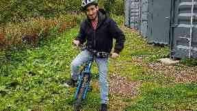 Yaman Tawalkn inspired the Bikes for Refugees (Scotland) project
