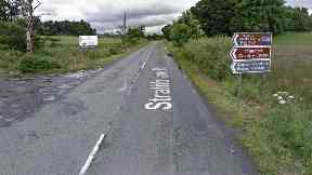 A81 road near Mugdock in Stirlingshire. Bad head-on crash leaves four injured.