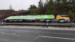 A87: Lorry crashed into ditch. Skye